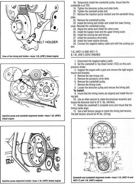 ISUZU | Banda de tiempo, timing belt, instalacion