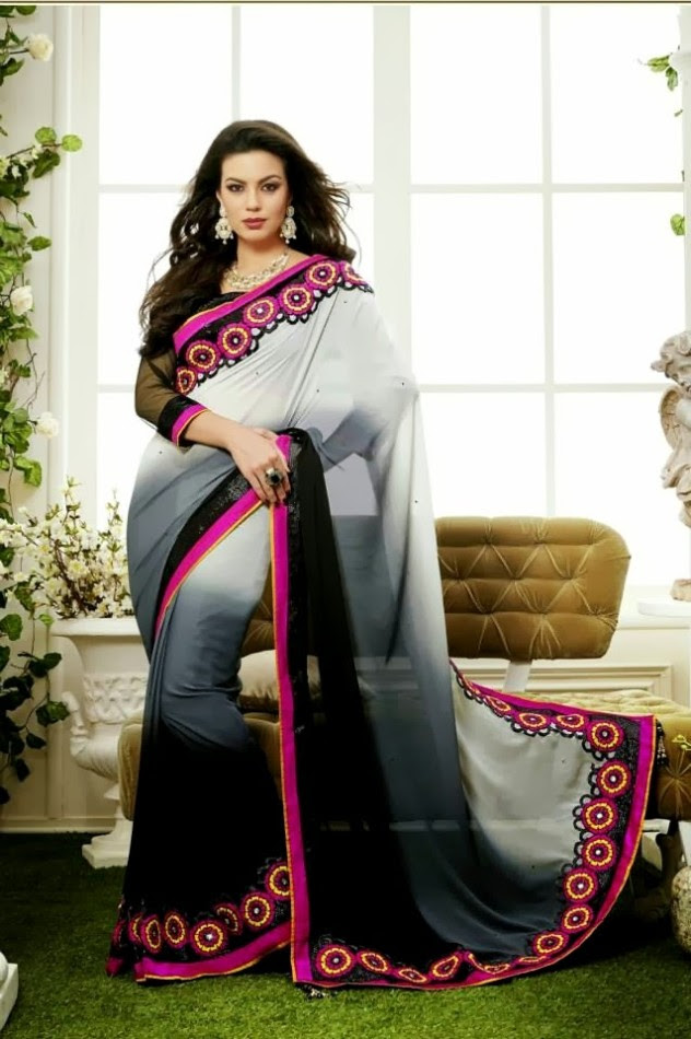 Bridal-Wedding-Rich-Heavy-Embroidered-Sarees-Designs-Lehanga-Style-Fancy-Sari-New-Fashion-9