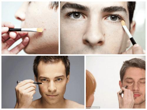maquiagem masculina para esconder espinhas