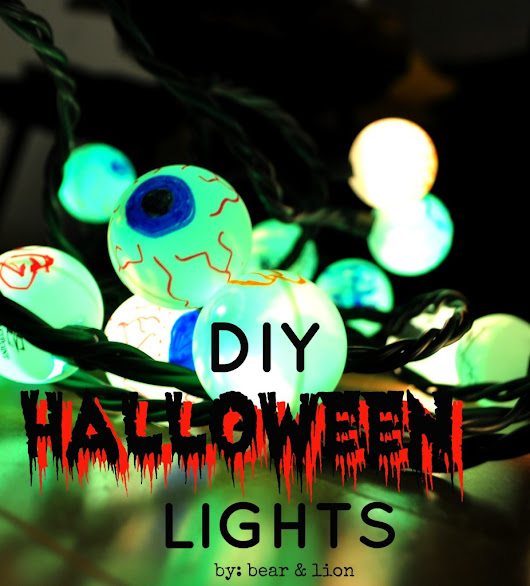DIY halloween lights!