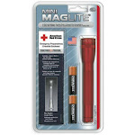 """Maglite Sm2a03h Mini Holster Combo Flashlight Pack, 2 """"aa"""" Cell, Red"""