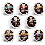 100ct Variety Pack For Keurig K-cups 8 Assorted Single Cup Sampler 20% More Coffee Per Cup By Bradford Coffee