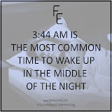 The most common time to wake up in the middle of the night is 3:44 AM