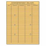 Universal String & Button Interoffice Envelope, 10 x13, 100 Envelopes (UNV63568)