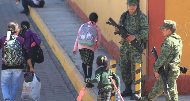 Disminuye población que ve necesaria presencia de Ejército en calles