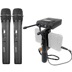 Movo WMB-2 Dual Handheld Smartphone Wireless Microphone