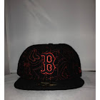 New Era Boston Red Sox Fitted Black/Red 334 - Black/Red / 7 1/8
