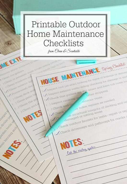 Outdoor Home and Garden Maintenance Checklists - Clean and Scentsible