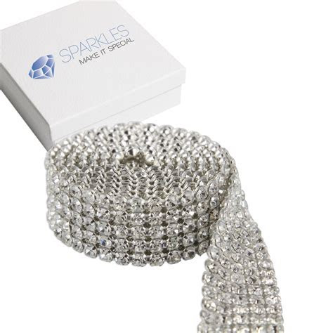 Premium 5 Row SS19 Crystal Rhinestone Ribbon / Wedding