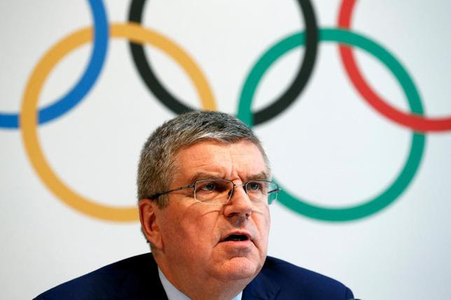 International Olympic Committee (IOC) President Thomas Bach gives a news conference after the Olympic Summit on doping in Lausanne, Switzerland, June 21, 2016.  REUTERS/Denis Balibouse/Files