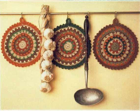كروشيهات للمطبخ بالباترون