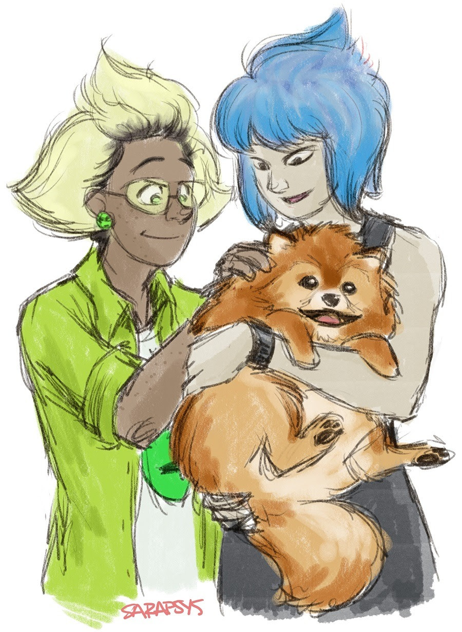 im just so tickled by the idea of Pumpkin being a fat, puffy pomeranian though