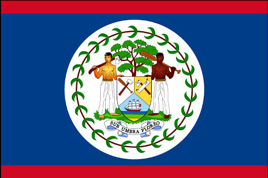 Belizean Flag - Belize Inland Tours and Cave Tubing