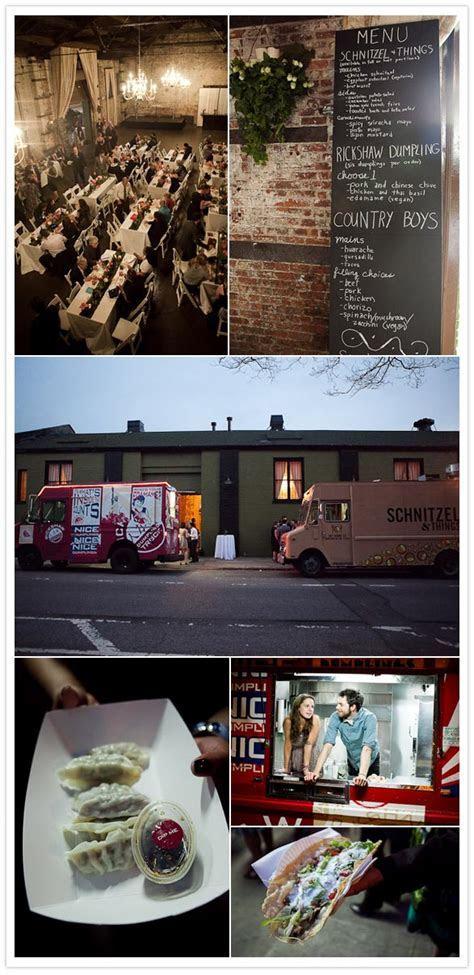 An elegant, urban, food truck wedding in Brooklyn: Amy