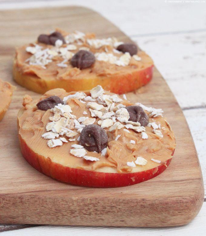 Apfel, Erdnuss, Sandwich, Healthy Snack, Peanutbutter