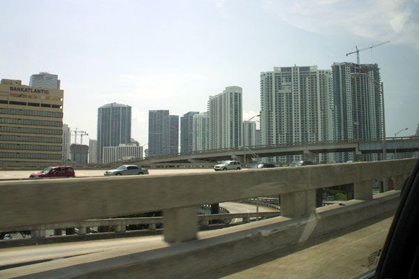 Driving through the city of Miami as I took a road trip to Key West in the Florida Keys...on August 14, 2008.