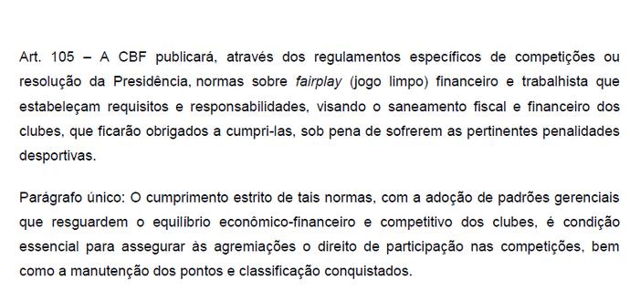 Regulamento Geral de Competições (Foto: Reprodução)