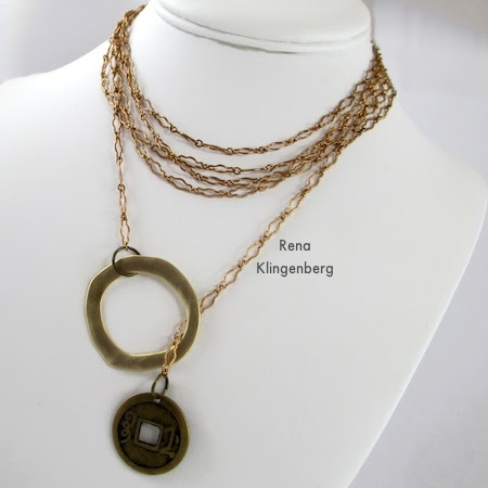 Fun with Lariat Necklaces - Tutorial by Rena Klingenberg