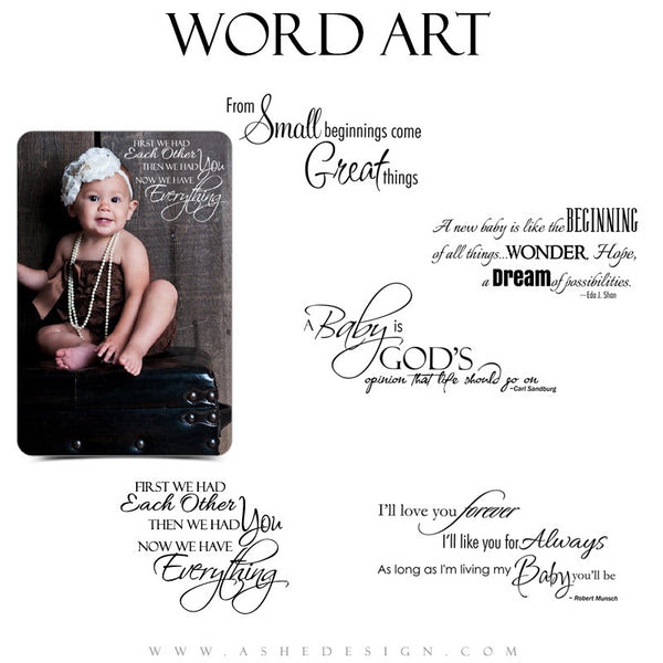 Newborn Word Art Quotes Oh Baby Ashedesign