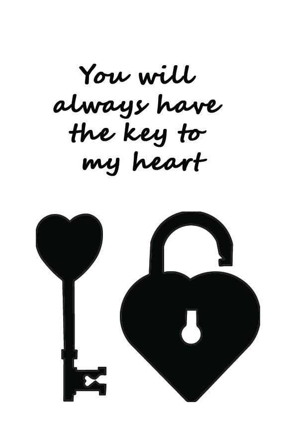 You Will Always Have The Key To My Heart Sign It
