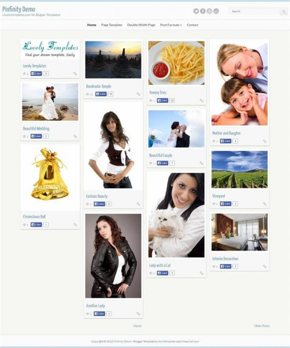 Pinfinity Photography Blogger Template