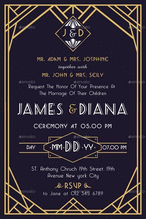 Art Deco Wedding Invitation Vol. 2 by TotemDesigns