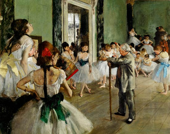 Edgar Degas - La clase de baile