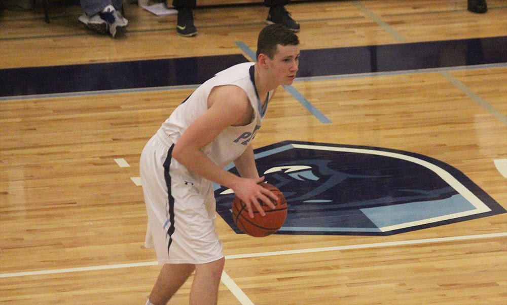 Franklin senior Kevin Gill hit a trio of three pointers between the fourth quarter and overtime. (Ryan Lanigan/HockomockSports.com)