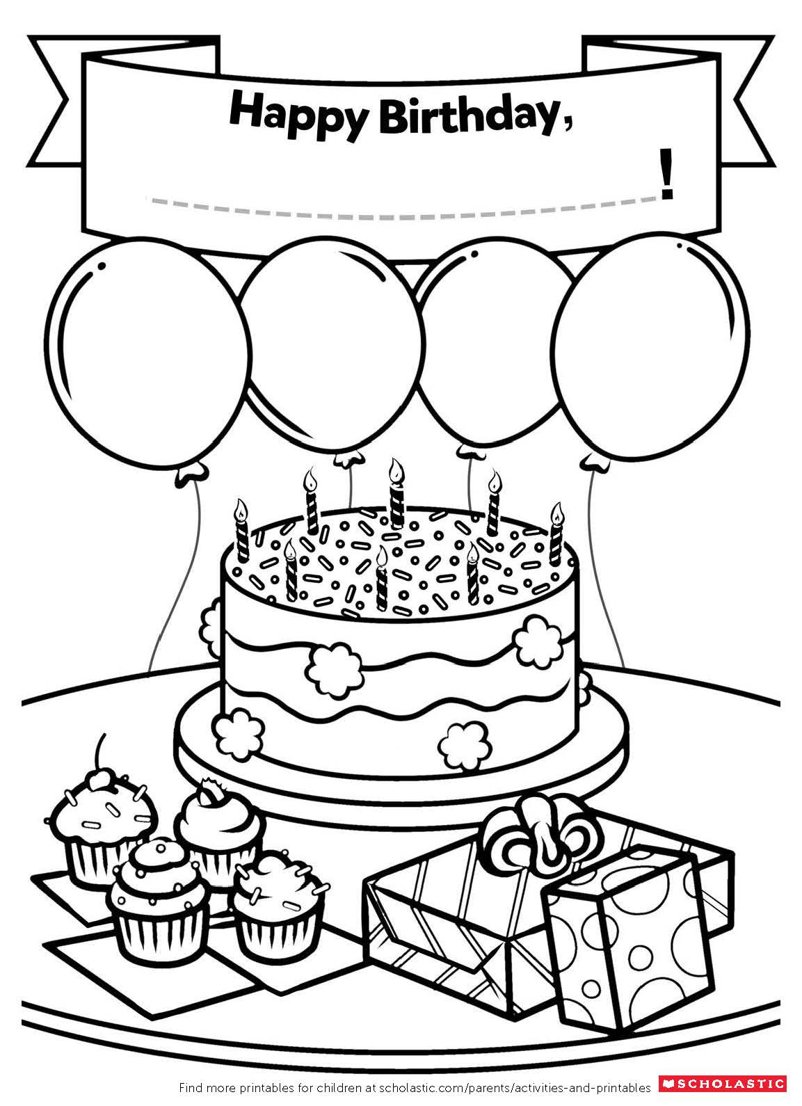 A Homemade Birthday Card | Worksheets and Printables ...