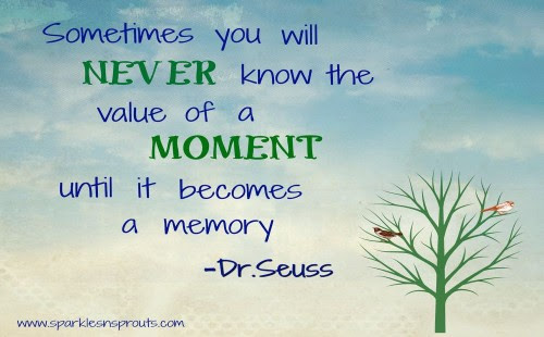 Cherish Every Moment Sparkles N Sprouts