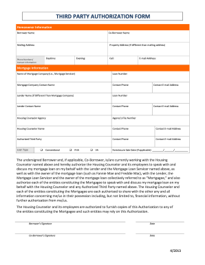 third party authorization form Fill Online, Printable, Fillable ...