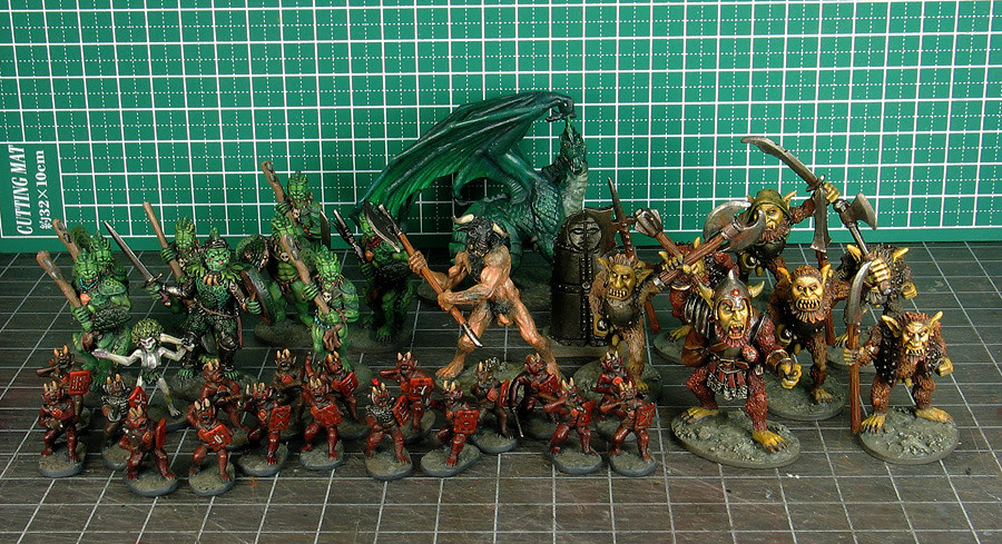 Miniatures I finished in January, 2012