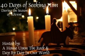 http://daybydayinourworld.com/2013/12/advent-is-here-beginning-my-walk-with-the-40-days-of-seeking-him-and-sharing-about-keeping-christ-in-christmas/