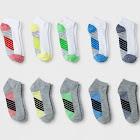 Boys' 10pk Stripe Low Cut Socks - Cat & Jack