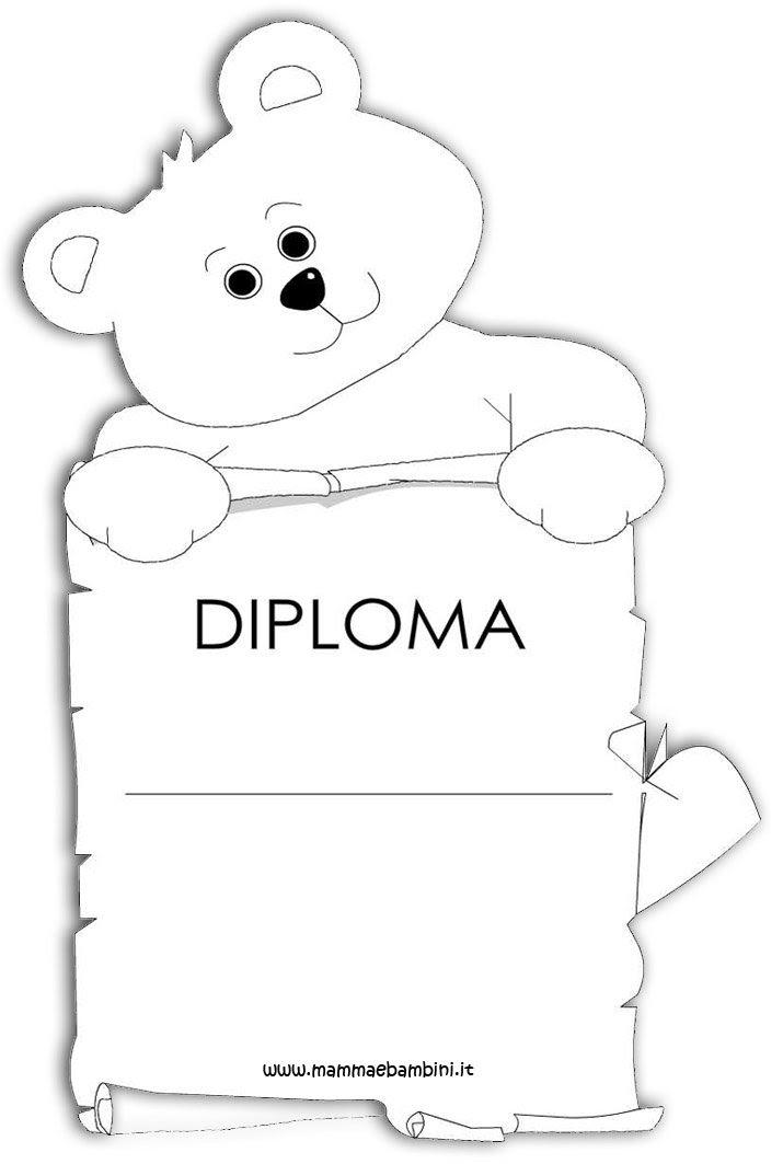 Diploma Per I Bambini Da Stampare Mamma E Bambini