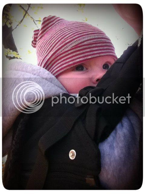 Baby in der Manduca