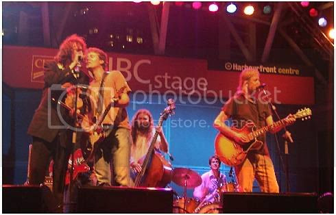 Jim Cuddy and Greg Keelor with The Sadies @ Harbourfront: photo by Mike Ligon