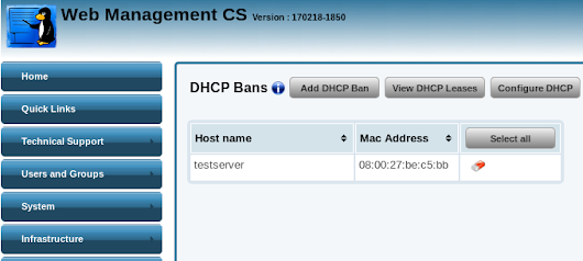 Banning Mac Addresses from the DHCP server – Karoshi