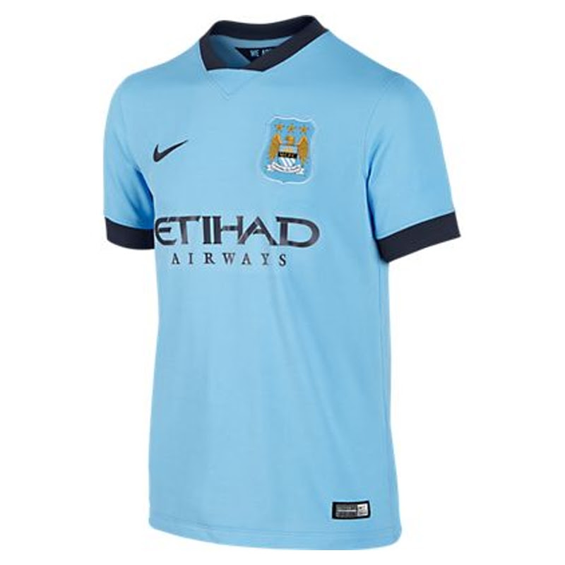 Nike Manchester City Youth Home '14-'15 Replica Soccer ...