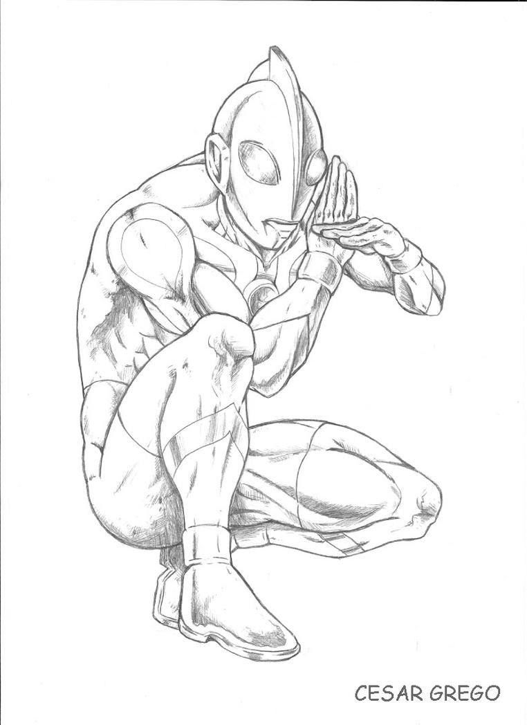 Ultraman Coloring Pages Eskayalitim