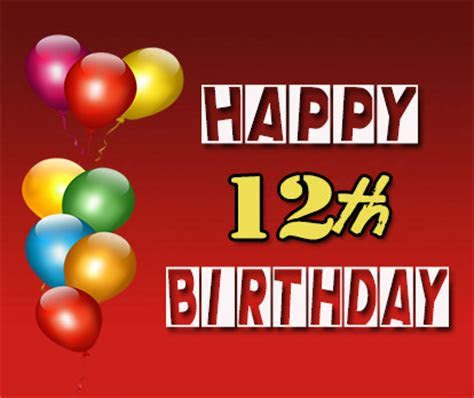 Happy 12th Birthday Wishes   Occasions Messages