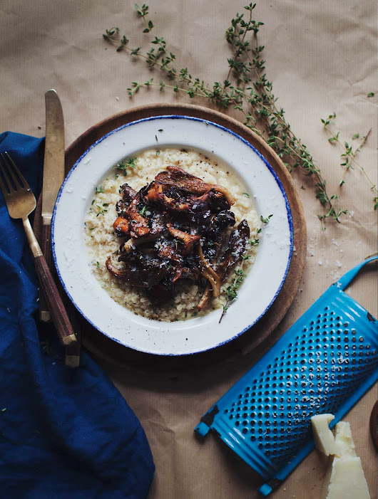 White Lentil Risotto with Mushrooms | My New Roots