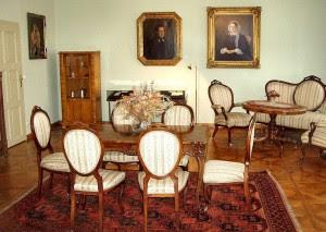 The Stifter home, a study in Biedermeier.