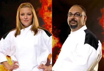HELL'S KITCHEN Season 4 finalists, Christina and Petrozza.
