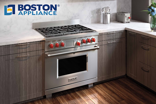 "Wolf 36"" Dual Fuel Range Model DF366 at Boston Appliance"