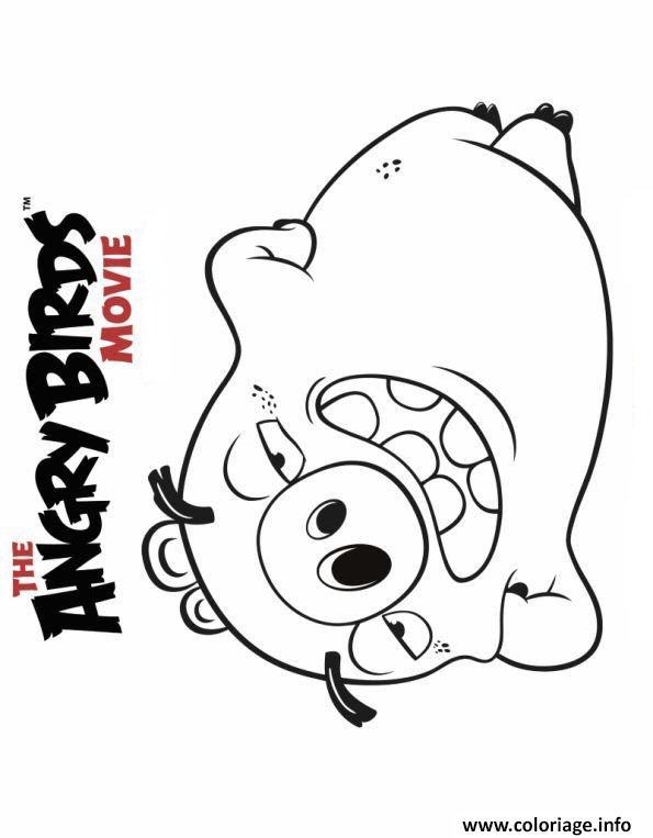 Coloriage Angry Birds Le Film Le Cochon Jecoloriecom