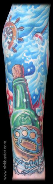 Tattoo Galleries Message In A Bottle Detail Tattoo Design