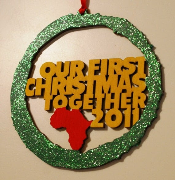 Our First Christmas Together 2011 Ornament - 4.5 inches round