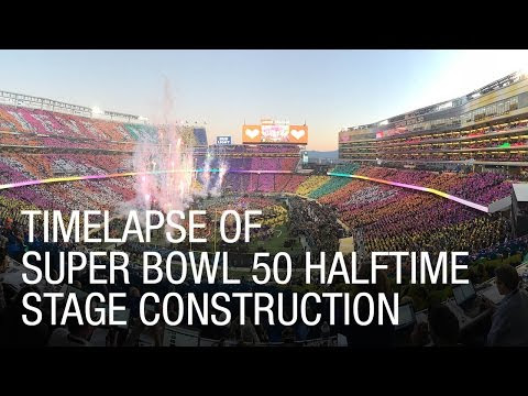 Behind the scenes of The Big Game halftime moving process