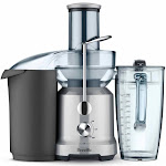"""Breville BJE430SIL 25 oz Juice Fountain? Cold Juicer w/ 3"""" Chute - Silver, 110-120v"""